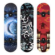 Skateboard Deck Funboard Holzboard Komplett Skate Board Ahornholz ABEC-7 Unisex