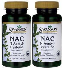 2x Nac N-Acetil Cisteína 600 Mg 100 Cápsulas, hígado / Detox, fuerte Anti Oxidante