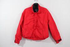 Vintage 90s WOOLRICH Mens Large Full Zip Wool Lined Bomber Jacket Coat Red