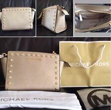 BNWT Michael Kors Gold Studded Selma Medium Messenger Crossbody bag Rrp £250