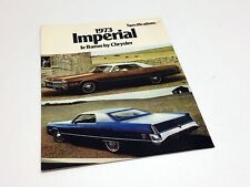 1973 Chrysler LeBaron Imperial Specifications Brochure