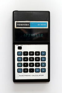 Vintage Toshiba BC-8018 Electronic Pocket Calculator **Working**