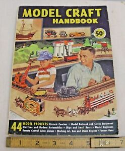 MODEL CRAFT HANDBOOK PLANS FOR RC TOYS AND ENGINES 1950s