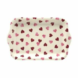 Emma Bridgewater - Small Melamine Rectangular Tray - 22 x 14.5cms - Pink Hearts