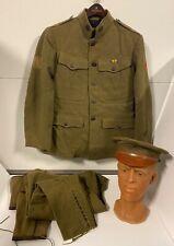 Vintage Original Ww I Medics Uniform With Hat & Puttees Too; Identified