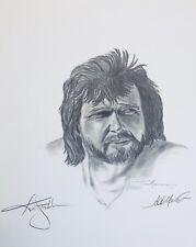Ken Stabler signed 18X18 Ltd artist proof Litho Raiders Todd Marinovich JSA COA