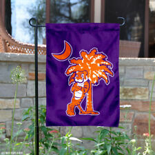 Clemson Mascot and Palmetto Garden Flag and Yard Banner