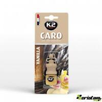 K2 Caro Vanilla HOME AIR FRESHENER FRAGRANCE PERFUME HANGING GLASS BOTTLE 4ml