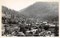 <A3> CALIFORNIA Ca Postcard Real Photo RPPC c1950 DOWNIEVILLE Birdseye View