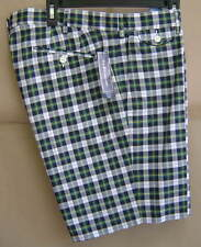 NWT $80 POLO RALPH LAUREN 36 Cotton MADRAS Shorts TARTAN Plaid SLIM GI 5856747