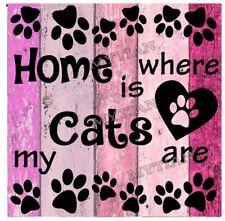 "Diamond Painting,Mosaikbild ""Home is - Cats"",Vollbild,50x50 cm, eckig"