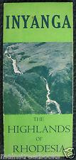 Nyanga Zimbabwe 1950 Inyanga Highlands of Rhodesia Travel Brochure National Park