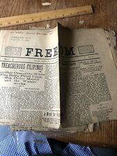 Freedom Newspapers Spanish American War Manila Phillipines 1899