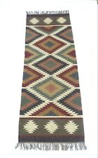 Yoga mat Kilim Rugs Jute Area Rug Hand loomed Rustic Rugs Indian Art Handwoven 7