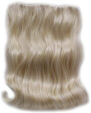 "11"" x 18"" INTEGRATION HAIRPIECE LONG STRAIGHT HAIR EXTENSIONS CLIP IN WAVY ENDS"