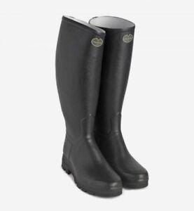 Le Chameau Saint Hubert black Gummistiefel 46 (calf 44) rubber boots