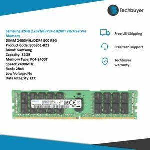 Samsung 32GB (1x32GB) PC4-19200T 2Rx4  DIMM 2400MHz DDR4 - 805351-B21