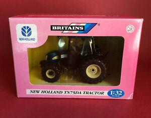 2005- Britains New Holland TN75DA Tractor No42021 ExIB