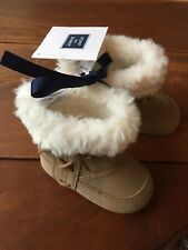 NEW Janie and Jack Brown Baby Boot Crib Shoes Girls Size 2 Infant