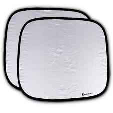 Zento Deals 2X Car Auto Nylon Windshield Front/Rear Window Sunshade Ray Visor