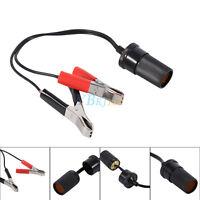 1x 12V Car Cigarette Lighter Socket Adapter Battery Pump Alligator Clip Cable ZY