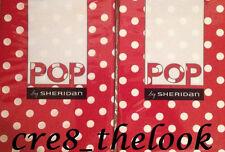 SHERIDAN POP HARU POPPY (RED) EUROPEAN PILLOWCASES FULLY REVERSIBLE BRAND NEW