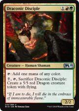 4 x Draconic Disciple (215/280) - M19 Magic 2019 Core Set - Uncommon