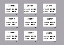 HONDA Z50R COLOR CODE FRAME DECAL 1991 thru 1999  / REPRO DECAL