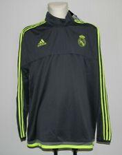 adidas Real Madrid Sweatshirt Fußball grau/gelb, Gr. 3XL
