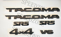 6PC 2016-2018 Toyota Tacoma Tag MATTE Black Door Emblem Decal Badge Nameplate V6