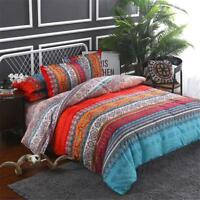 Moroccan Ethnic Indian Asian Bohemian Print Duvet Cover Quilt Linen Bedding Set