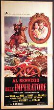 Locandina AL SERVIZIO DELL'IMPERATORE 1958 ROBERTO RISSO MAGALI NOEL L.PALUZZI