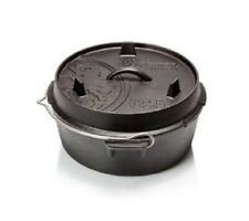 Petromax Feuertopf (Dutch Oven) Bratentopf ohne Füße aus Gusseisen,  Pmft4.5-T