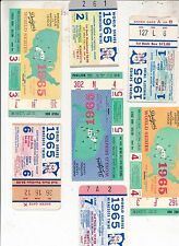 Complete Set 1965 World Series (7 games) TICKET STUBS Excellent Cond Koufax MVP