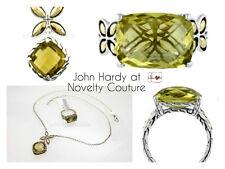 $450 New JOHN HARDY 925 Silver 18K Gold Olive Quartz KAWUNG Ring, 7 -  *VIDEO*