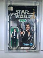 1978 Vintage Kenner Star Wars SW12C 12-Back C Han Solo Action Figure AFA 85