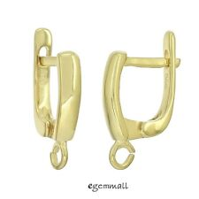 Fine 22kt Gold Plated Sterling Silver Leverback Earring Hook ap. 11x16mm #97833
