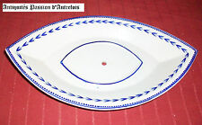 B20110211 - Ravier de saucière en porcelaine de Tournai décor à l'épi
