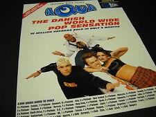 AQUA The Danish World Wide Pop Sensation 1998 PROMO DISPLAY AD mint condition