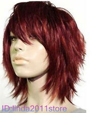 Charming short red hair women's Cosplay wigs - Full Wig + Wig cap NO:A96