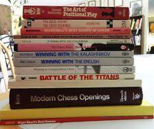 14 BOOK CHESS LOT/FRANK MARSHALL/GIUOCO PIANO GUFELD/NIGEL SHORT/KASPAROV/KARPOV