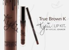 Kylie Matte Liquid Lipstick Lip Liner TRUE BROWN Stick Womans Gift BRIDE NEW up