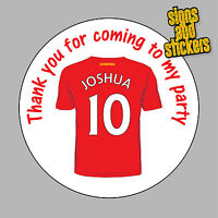 40 Personalised Liverpool FC Party Stickers Bag Seals Invites any name age kop
