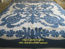 Hawaiian quilt wall hanging handmade 100% hand quilted/appliqued BEDSPREAD CB