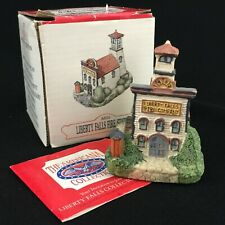 Vtg 1992 Liberty Falls Fire Station The Americana Collection Ah10