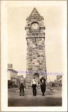 1925 Wainwright Alberta Canada Memorial Clock Tower Town Square Street Photo