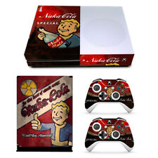 Xbox One S Console Skin Decal Sticker Vault Boy + 2 Controller Skins Set USA