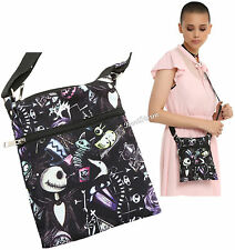 Disney The Nightmare Before Christmas Sketchy Canvas Crossbody Purse Bag Tote