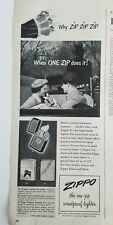 1951 Zippo leather crafted Town & Country engine turned cigarette lighter ad