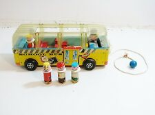 SCARCE FISHER PRICE 1959 1960 SCHOOL BUS NO 983 PULL TOY / FIRST ED LITTLE PEOPL